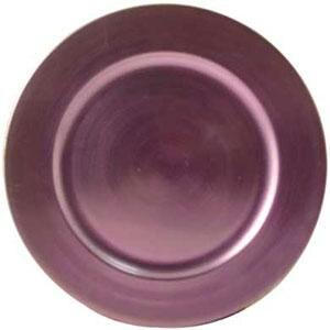 Tabletop Classics TRPL-6651 13 inch Purple Round Acrylic Charger Plate