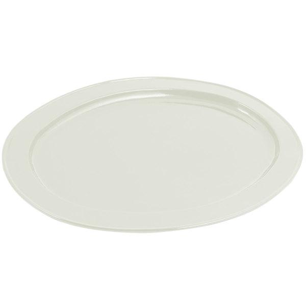 Bon Chef 2045 20 inch x 14 inch Sandstone Ivory Cast Aluminum Oval Platter