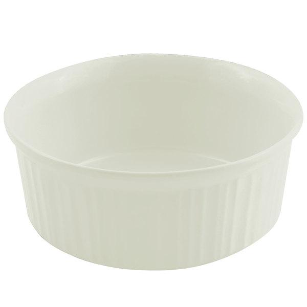 Bon Chef 5053 1.5 Qt. Sandstone Ivory Cast Aluminum Casserole Dish