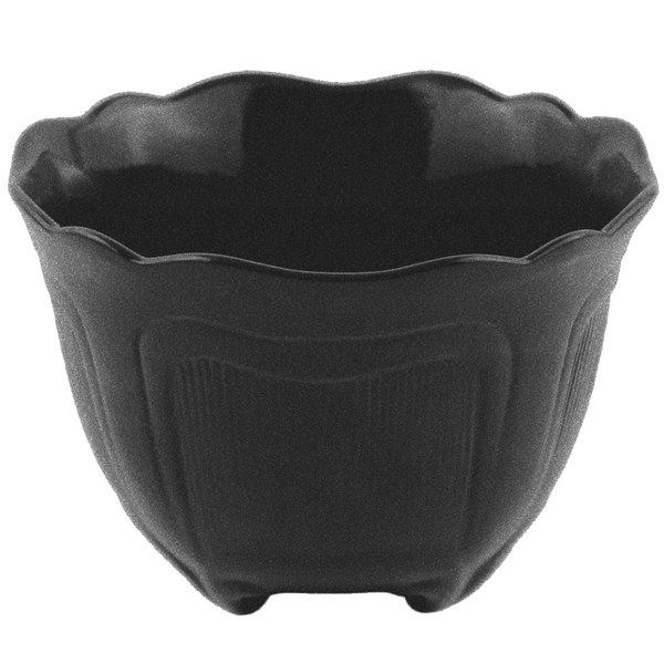 Bon Chef 9060 1.5 Qt. Sandstone Black Speckled Cast Aluminum Garnish Bowl