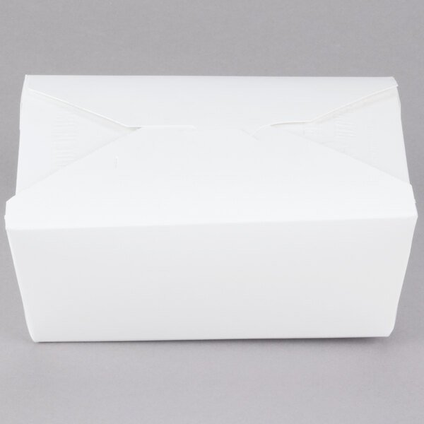 Southern Champion 778 6 inch x 5 inch x 3 inch ChampPak Retro White Paper #8 Take-Out Container - 300/Case