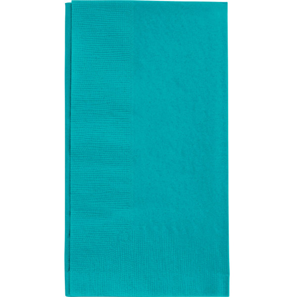Choice 15 inch x 17 inch Teal 2-Ply Paper Dinner Napkins - 125 / Pack