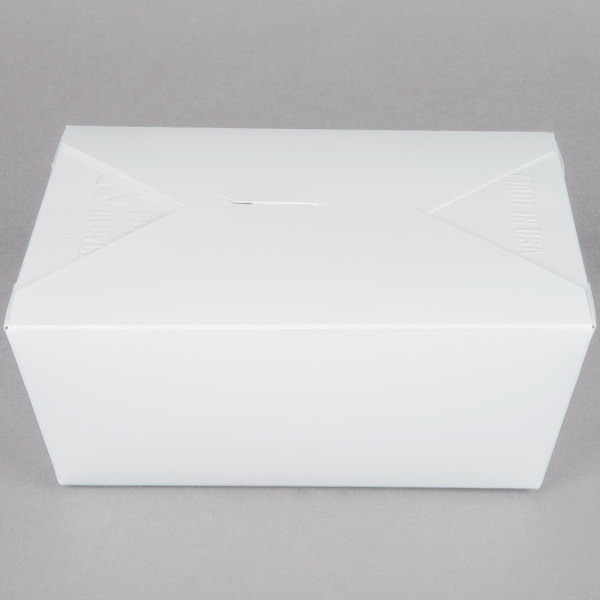 Southern Champion 774 8 inch x 6 inch x 4 inch ChampPak Retro White Paper #4 Take-Out Container - 40/Pack