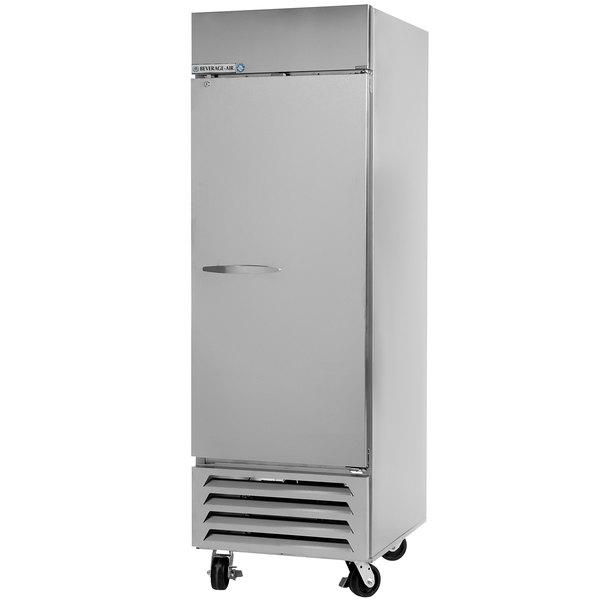 Beverage Air HBF27-1-S 30 inch Horizon Series One Section Solid Door Reach-In Freezer - 27 cu. ft.