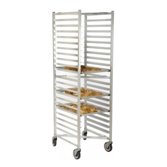 20 Pan End Load Z Type Nesting Bun / Sheet Pan Rack - Assembled