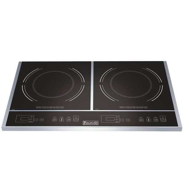Countertop Induction Stove : Eurodib S2F1 Double Countertop Induction Range - 120V, 1800W