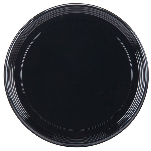 Sabert 9918 Onyx 18 inch Black Round Catering Tray  - 36/Case