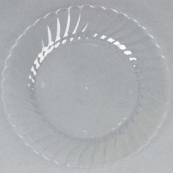 WNA Comet CW75180 Classicware 7 1/2 inch Clear Plastic Plate - 18/Pack