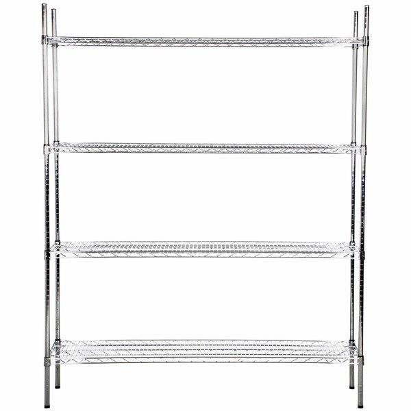 Regency 18 inch x 60 inch NSF Chrome Shelf Kit with 74 inch Posts