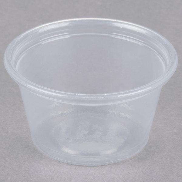 Dart Conex Complements 075PC 0.75 oz. Translucent Plastic Souffle / Portion Cup - 125/Pack