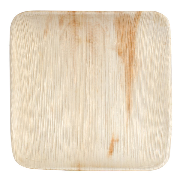 Eco-gecko Sustainable 10 inch Square Palm Leaf Plate 100 / Case