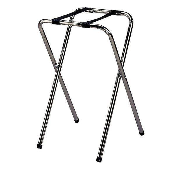 Tablecraft 23 Chrome-Plated Metal Tray Stand - 29 1/2 inch