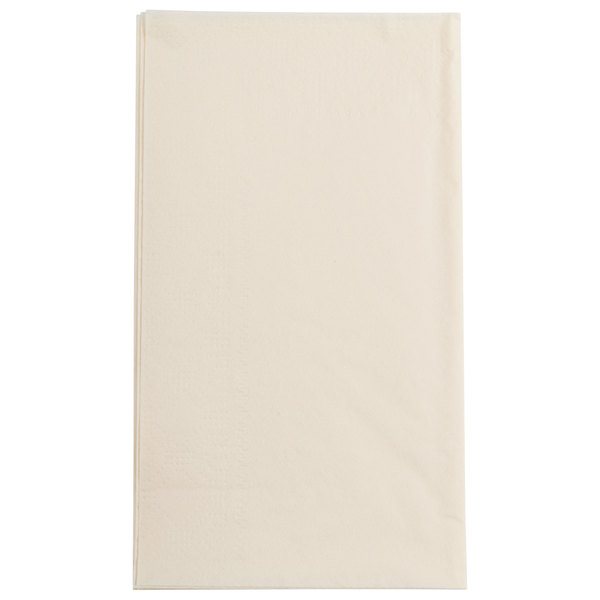 Hoffmaster 180517 Ecru / Ivory 15 inch x 17 inch Paper Dinner Napkins 2-Ply - 1000/Case
