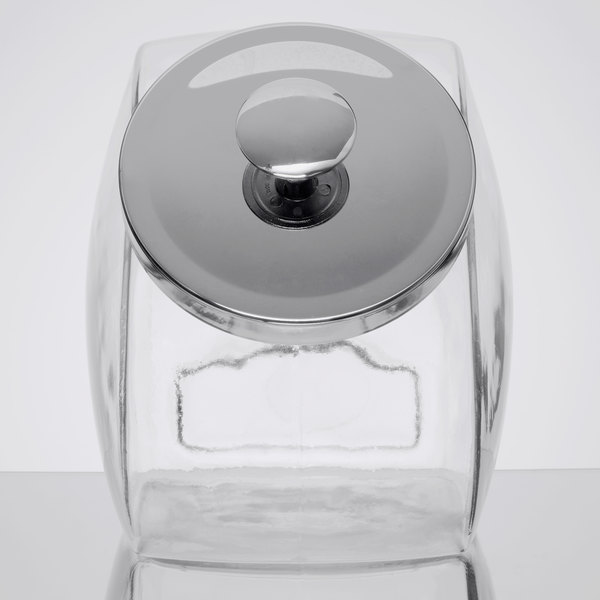 Anchor Hocking 69590R 1 Gallon Glass Penny Candy Jar with Chrome Lid