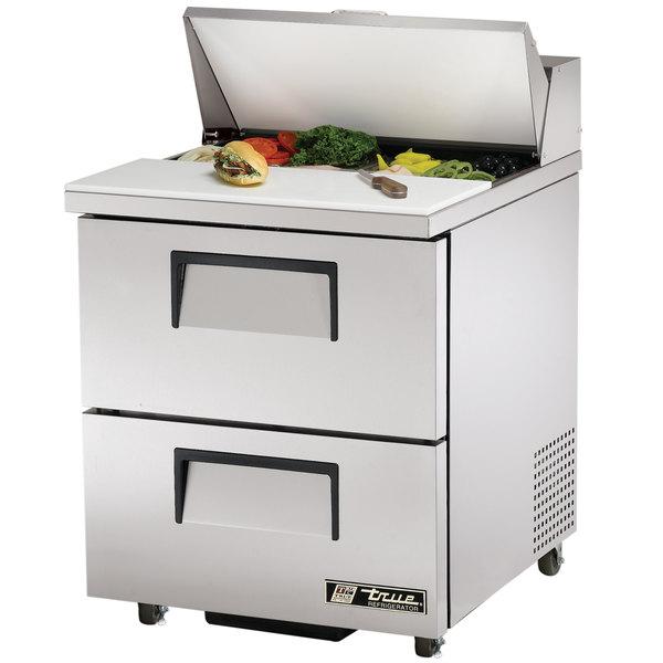 True TSSU-27-8D-2 27 inch Two Drawer Sandwich / Salad Prep Refrigerator