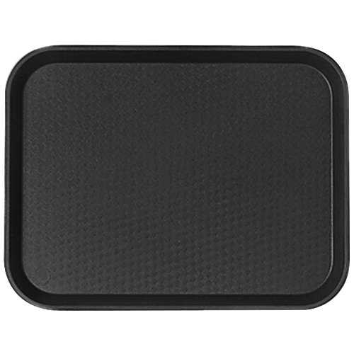 Cambro 1216FF110 12 inch x 16 inch Black Customizable Fast Food Tray - 24/Case