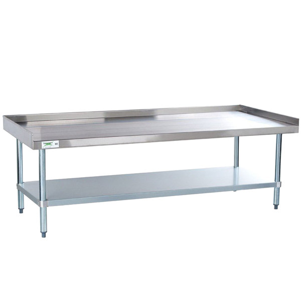 Regency 30 inch x 60 inch 16-Gauge Stainless Steel Equipment Stand with Galvanized Undershelf