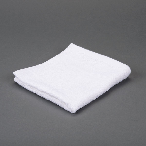 Hotel Wash Cloth - Gold 13 inch x 13 inch 86/14 Cotton-Polyester Blend 1.5 lb.