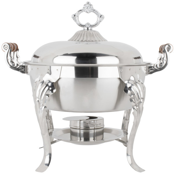 Half Size Warmer ~ Qt stainless round chafer chafing dish catering banquet