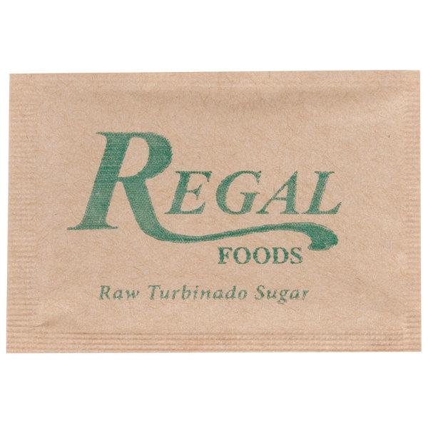 Regal Foods Raw Turbinado Sugar - (1000) 2.8 Gram Packets / Case