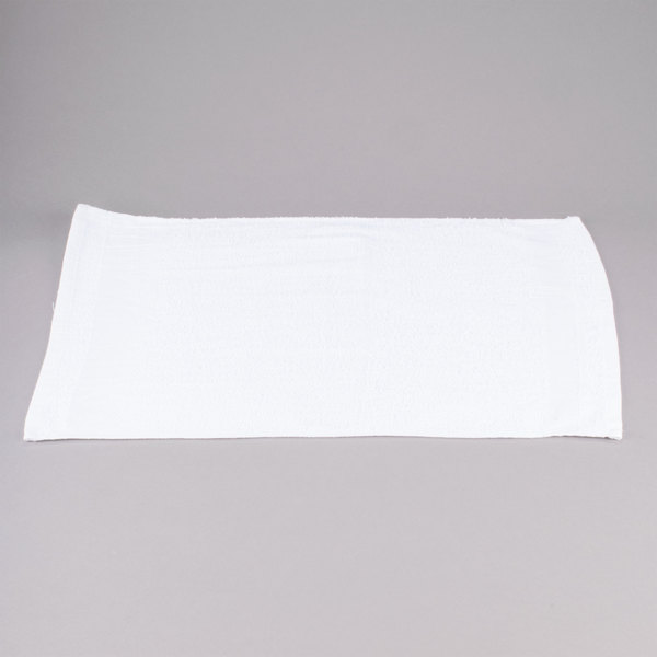 Chef Revival HTI275W 16 inch x 27 inch White Heavy Weight 44 oz. Full Terry 100% Cotton Bar Towel - 12/Pack