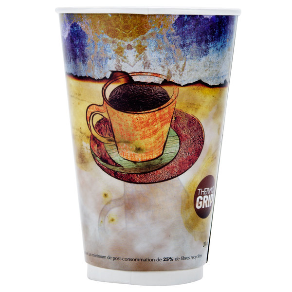 LBP 3012 Monaco 20 oz. Printed Double-Wall Poly Paper Hot Cup - 540/Case