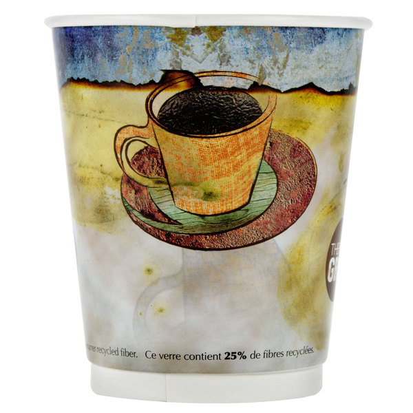 LBP 3010 Monaco 12 oz. Printed Double-Wall Poly Paper Hot Cup - 580/Case