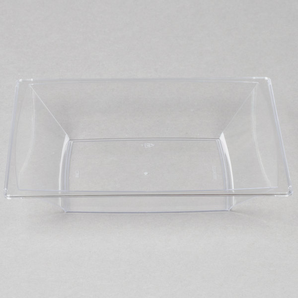 WNA Comet MSBWL12 12 oz. Clear Square Milan Bowl - 12/Pack