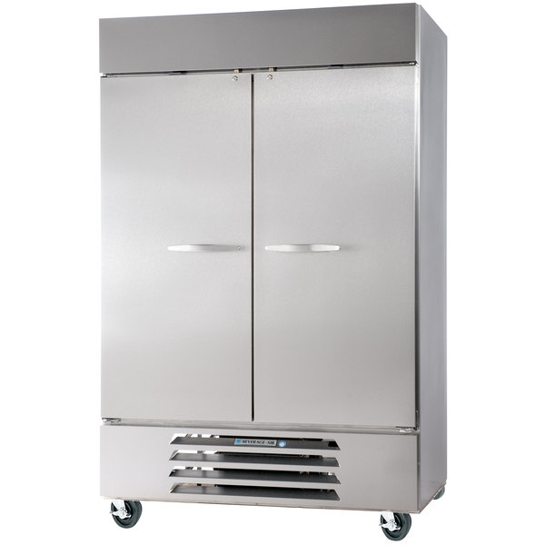 Beverage Air HBR49-1-S 52 inch Horizon Series Two Section Solid Door Reach-In Refrigerator - 49 cu. ft.
