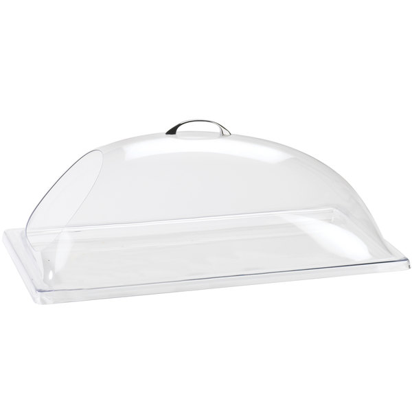 Cal-Mil 322-12 Classic Clear Dome Display Cover with Single End Opening - 12 inch x 20 inch x 7 1/2 inch