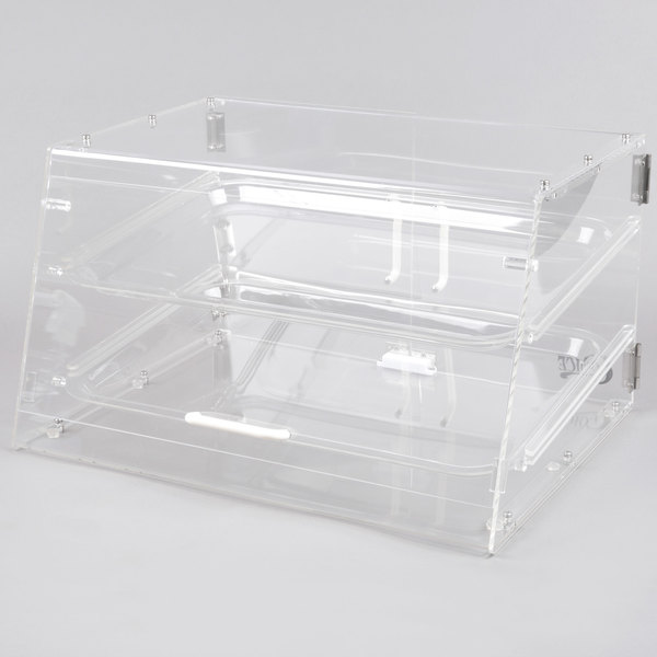 Choice 2 Tray Bakery Display Case with Front and Rear Doors