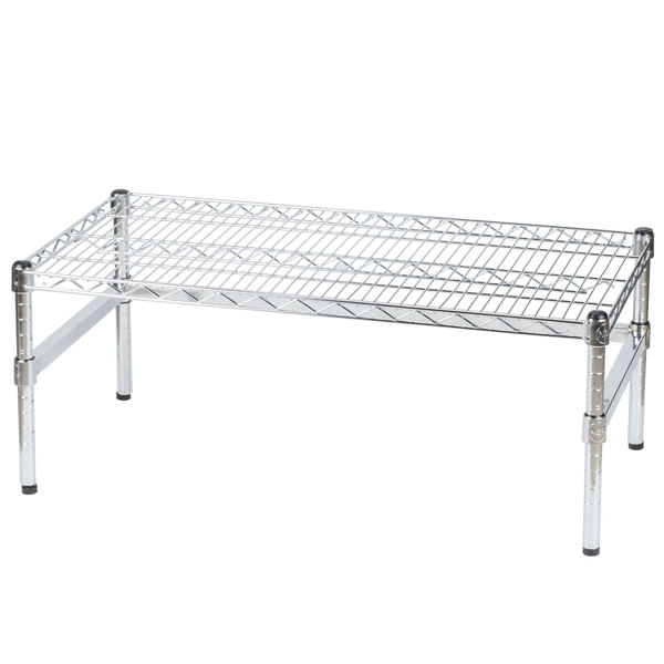 Regency 36 inch x 18 inch x 14 inch Chrome Plated Wire Dunnage Rack with Extra Support Frame - 600 lb. Capacity