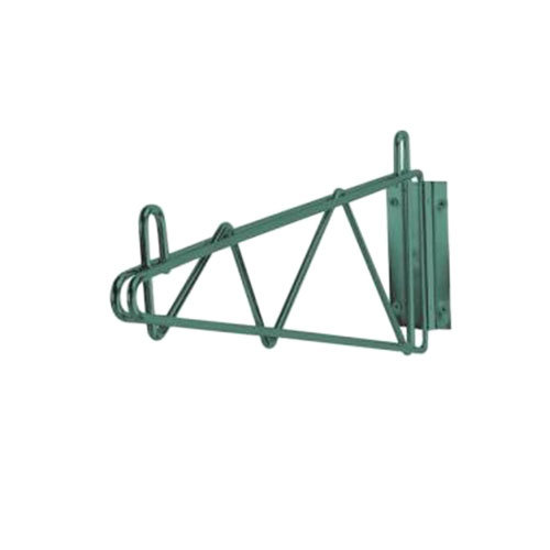 Advance Tabco GB-14 14 inch Deep Single Wall Mounting Bracket for Green Epoxy Coated Wire Shelves