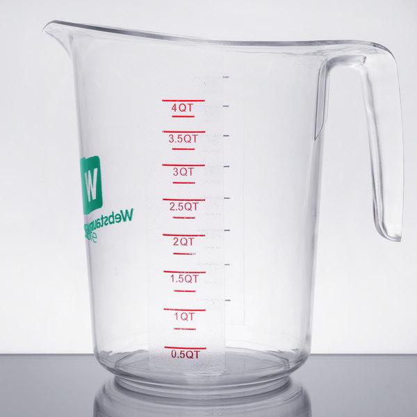 Choice 4 Qt. Clear Polycarbonate Measuring Cup