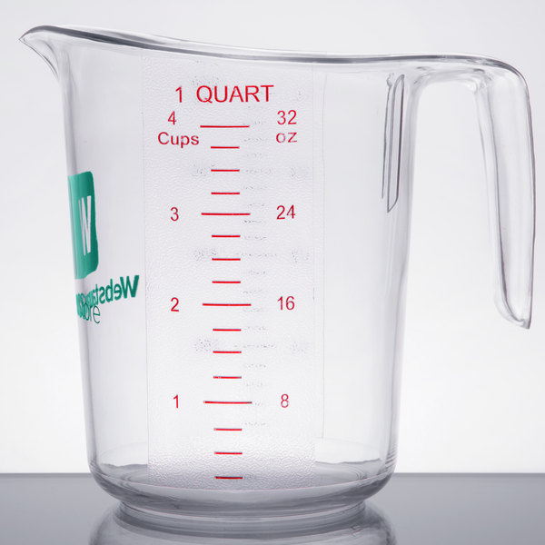 Choice 1 Qt. Clear Polycarbonate Measuring Cup