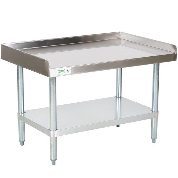 Regency 24 inch x 36 inch 16-Gauge Stainless Steel Equipment Stand with Galvanized Undershelf