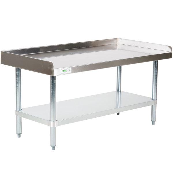 Regency 24 inch x 48 inch 16-Gauge Stainless Steel Equipment Stand with Galvanized Undershelf