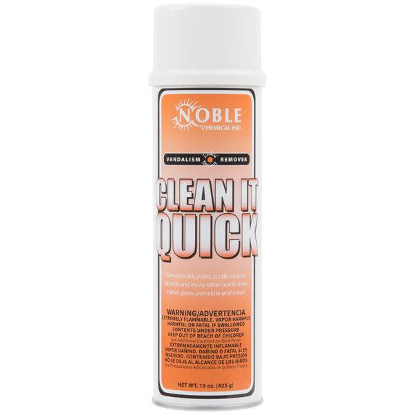 Noble Chemical 15 oz. Clean-It-Quick Vandalism Mark Remover - 12/Case
