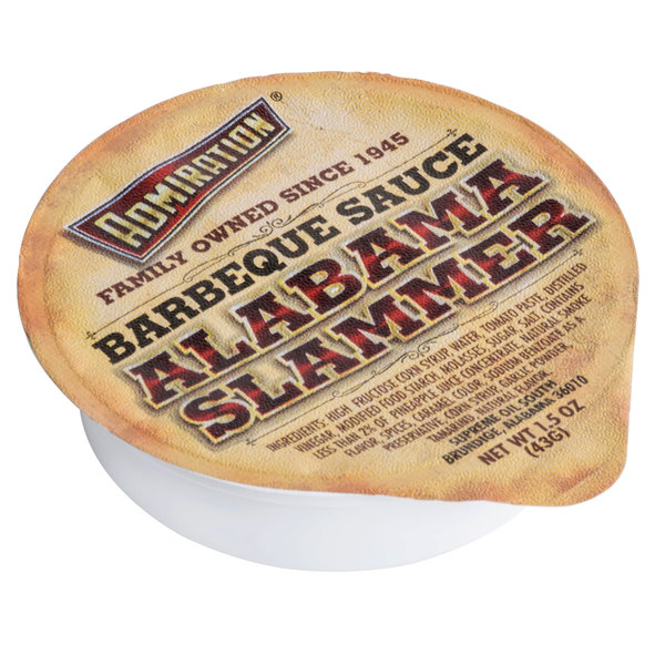 Admiration Alabama Slammer BBQ Sauce - (100) 1.5 oz. Portion Cups / Case - 100/Case