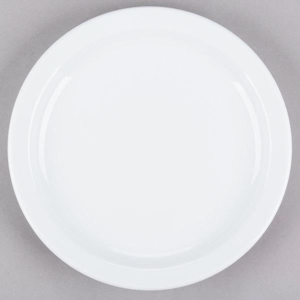 Tuxton CLA-082 Colorado 8 1/4 inch Bright White Narrow Rim Rolled Edge China Plate - 36/Case