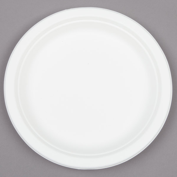 EcoChoice Biodegradable, Compostable Sugarcane / Bagasse 7 inch Plate - 1000/Case