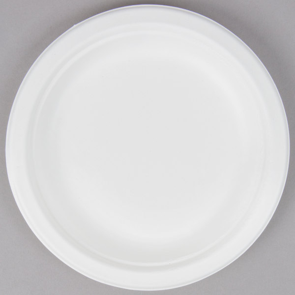 EcoChoice Biodegradable, Compostable Sugarcane / Bagasse 6 inch Plate - 125/Pack