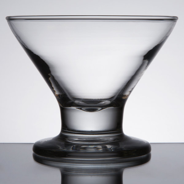 Core 8 oz. Footed Martini / Dessert Glass - 12/Case