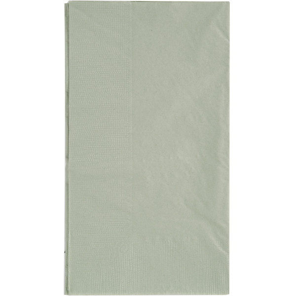 Choice 15 inch x 17 inch Customizable Sage 2-Ply Paper Dinner Napkin - 1000/Case