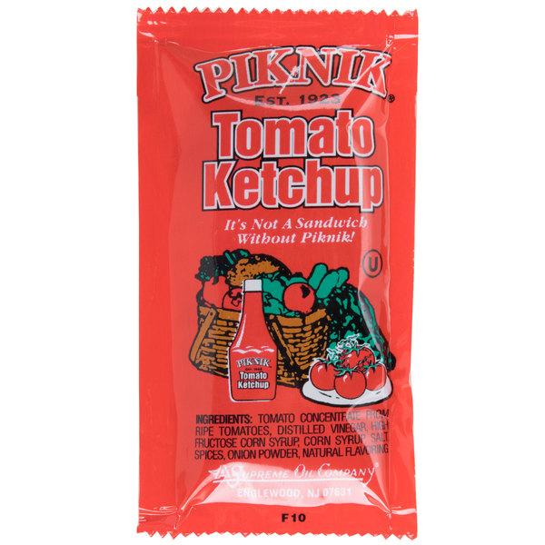 Piknik Ketchup - (500) 9 Gram Portion Packets / Case  - 500/Case