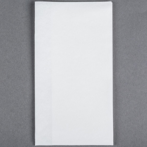 Lavex Lodging Linen-Feel White 1/6 Fold Guest Towel - 500/Case
