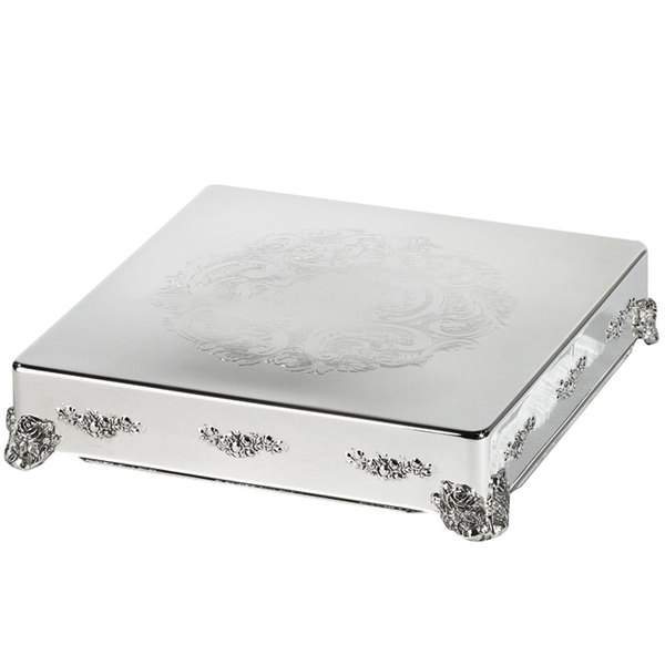 Eastern Tabletop 8005L 16 inch Square Silver Plated Cake Riser