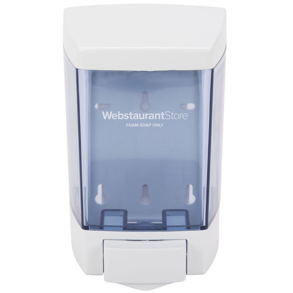 46 oz. White Bulk Foam Hand Soap and Sanitizer Dispenser (IMP 9344) - 5 1/2 inch x 4 1/4 inch x 8 1/2 inch