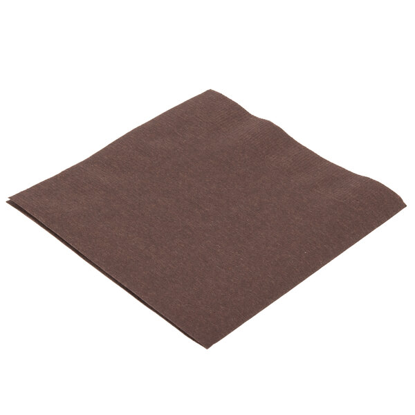 Creative Converting 803038B Chocolate Brown 2-Ply Beverage Napkin - 600/Case