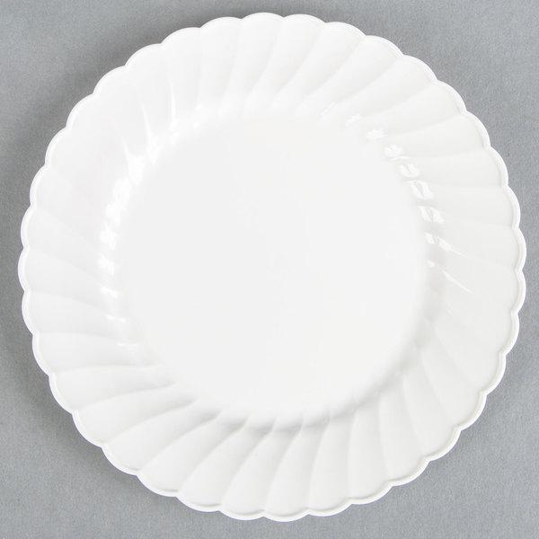 WNA Comet CW6180W Classicware 6 inch White Plastic Plate - 180 / Case